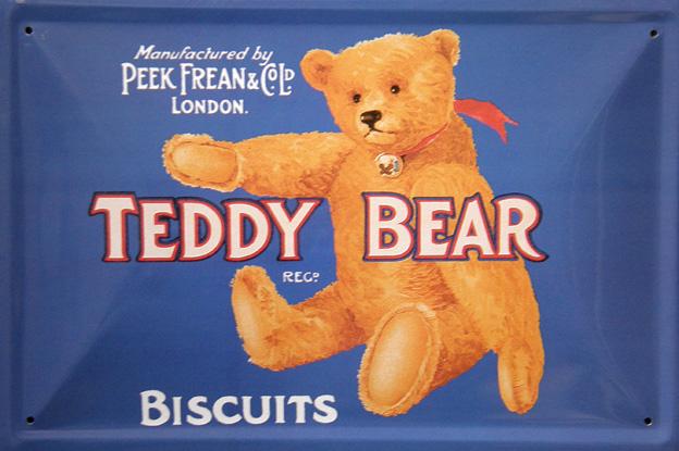 Plechová ceduľa Teddy Bear