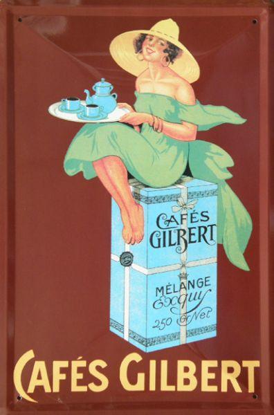 Plechová ceduľa Cafés Gilbert