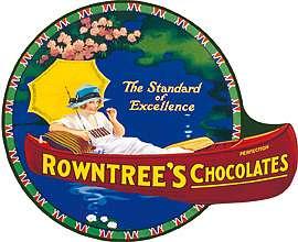 Plechová ceduľa Rowntrees Canoe