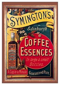 Plechová ceduľa Symingtons Coffee