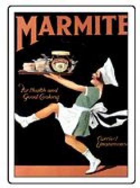 Plechová ceduľa Marmite stredná