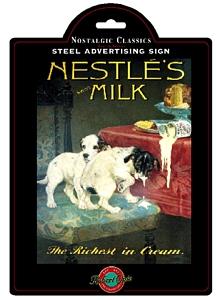 Plechová ceduľa Nestle´Swiss milk