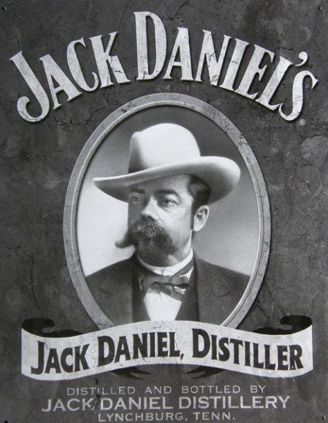Plechová ceduľa Jack Daniels čb