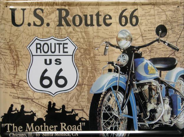 Plechová ceduľa U.S. Route 66