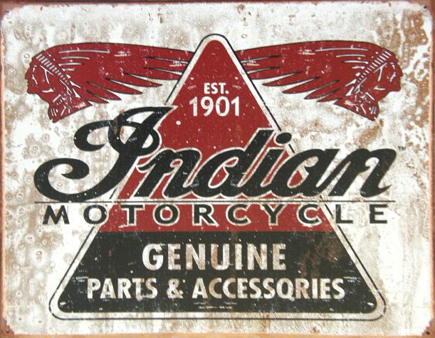 Plechová ceduľa Indian motorcycle