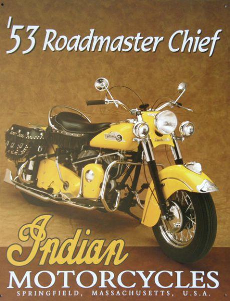 Plechová ceduľa Indian motorcycle 53