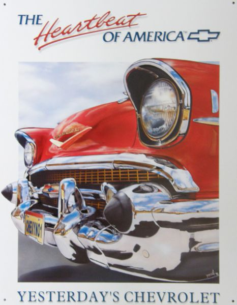 Plechová ceduľa Chevrolet