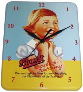 Plechové hodiny Brandt