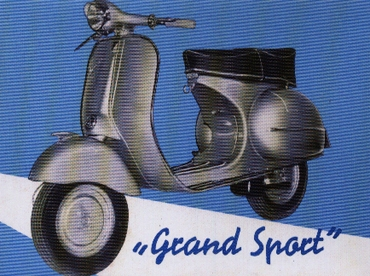 Plechový magnet Grand Sport Vespa