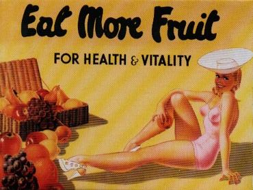 Plechový magnet Eat more fruit