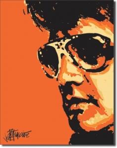 Plechová ceduľa Elvis Retro