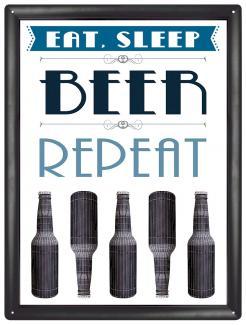 Plechová ceduľa Beer