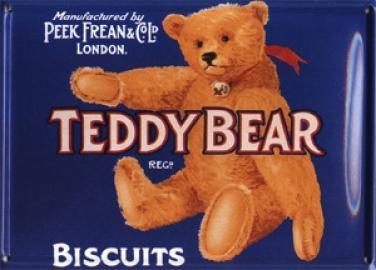 Plechová ceduľka Teddy Bear