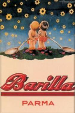 Plechová ceduľka Barilla 2