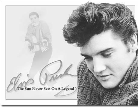 Plechová ceduľa Elvis signature