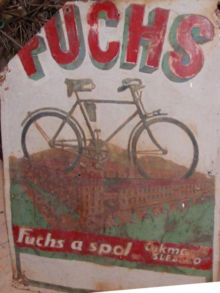 Plechová ceduľa Bicykel Fuchs