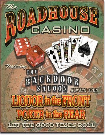 Plechová ceduľa Casino