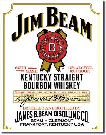 Plechová ceduľa Jim Beam