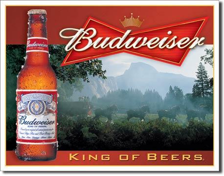 Plechová ceduľa pivo Budweiser - King of beers
