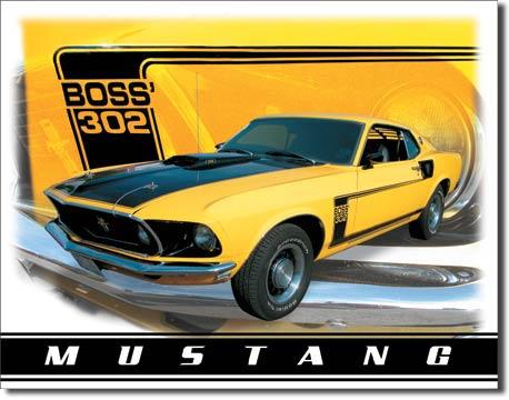 Plechová ceduľa auto Ford Mustang Boss