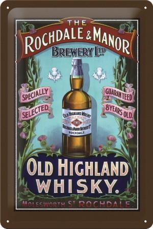 Plechová ceduľa Old Highland whisky