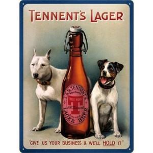 Plechová ceduľa pivo - Tennent's lager beer
