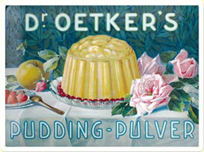 Plechová ceduľa Dr. Oetker's pudding - pulver