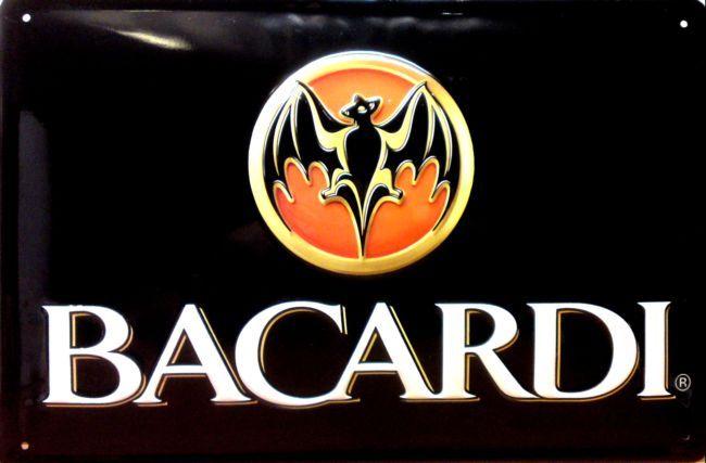 Plechová ceduľa Bacardi