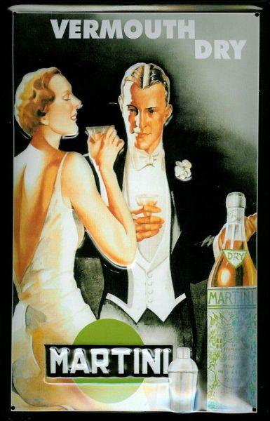 Plechová ceduľa Martini Vermouth Dry