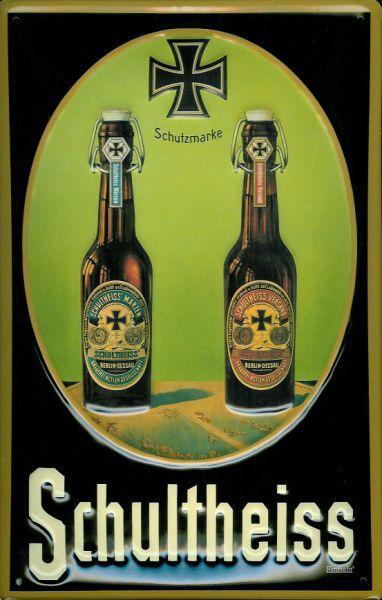 Plechová ceduľa pivo - Schultheiss
