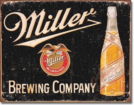 Ceduľa pivo Miller Milwaukee