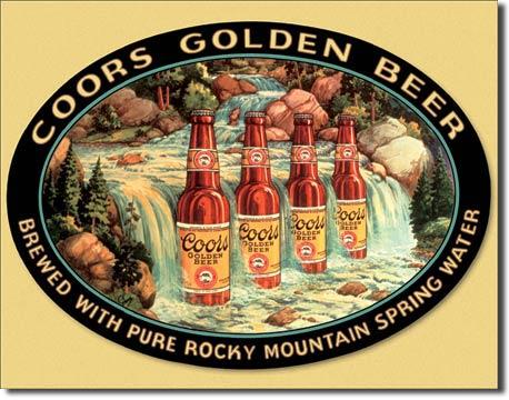 Ceduľa pivo Coors Golden beer