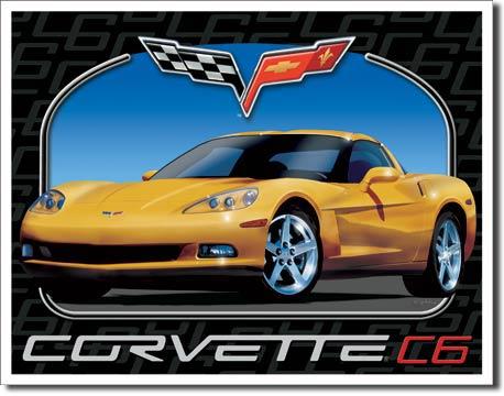 Plechová ceduľa Corvette C6
