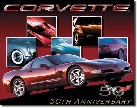 Plechová ceduľa Corvette