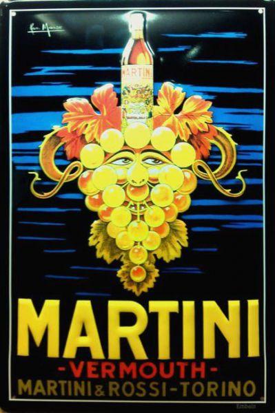 Plechová ceduľa Martini Vermouth hrozno