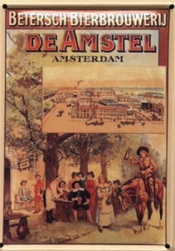 Plechová ceduľka pivo De Amstel