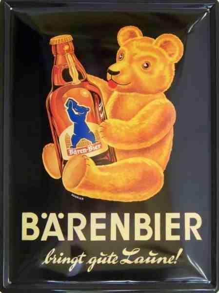 Plechová ceduľa pivo Barenbier