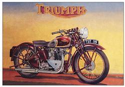 Plechová ceduľa Triumph 1s