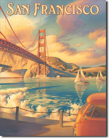Plechová ceduľa San Francisco - Golden Gate