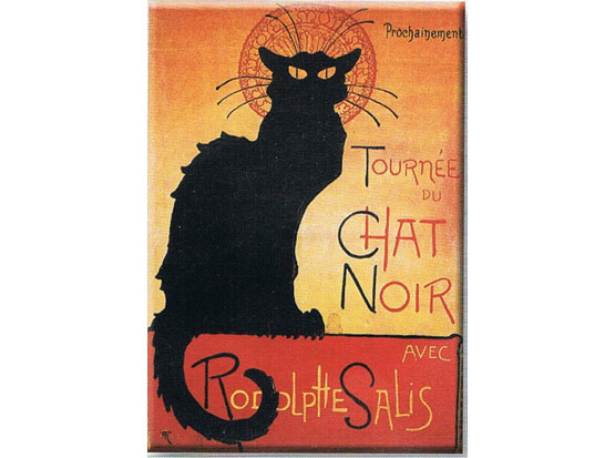 Plechová ceduľa Mačka - Chat noir
