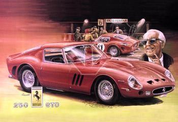 Plechová ceduľa Ferrari červené M