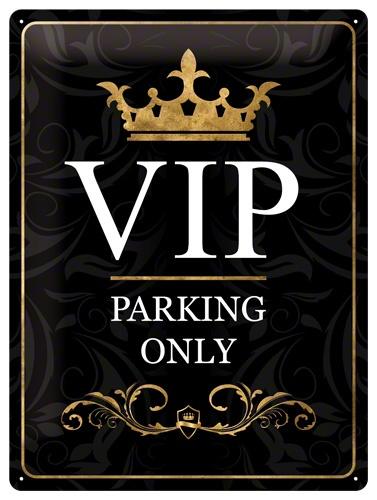 Plechová ceduľa Vip parking only