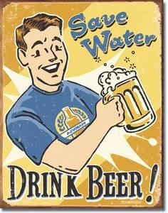 Plechová ceduľa Drink beer