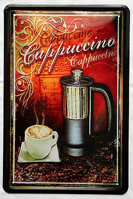 Plechová ceduľa káva Cappuccino