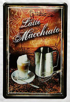 Plechová ceduľa káva Latte Macchiato