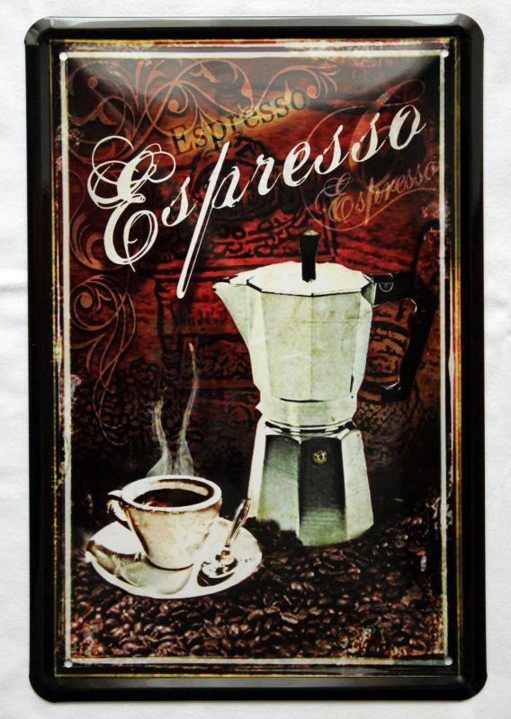 Plechová ceduľa káva Espresso