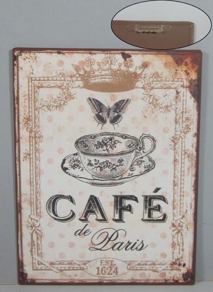 Plechová ceduľa káva Cafe