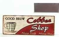 Plechová ceduľa káva Coffeee shop
