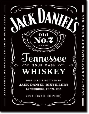 Plechová ceduľa Jack Daniels - whiskey