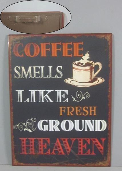 Plechová ceduľa káva Coffee smeells - like